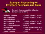 example accounting for inventory purchases and sales