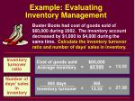 example evaluating inventory management
