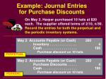 example journal entries for purchase discounts