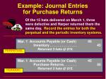 example journal entries for purchase returns
