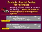 example journal entries for purchases