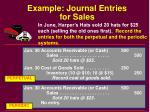 example journal entries for sales