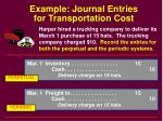 example journal entries for transportation cost