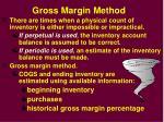 gross margin method