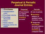 perpetual periodic journal entries