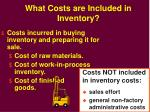 what costs are included in inventory