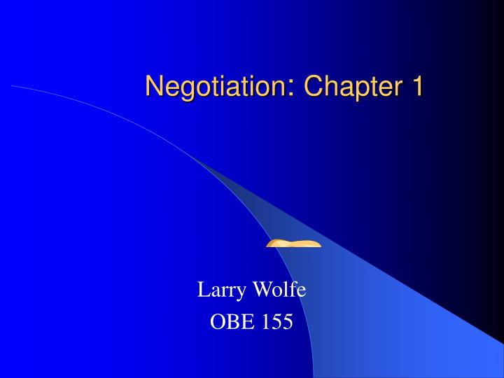 negotiation chapter 1 n.