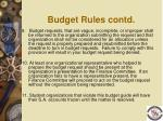 budget rules contd1