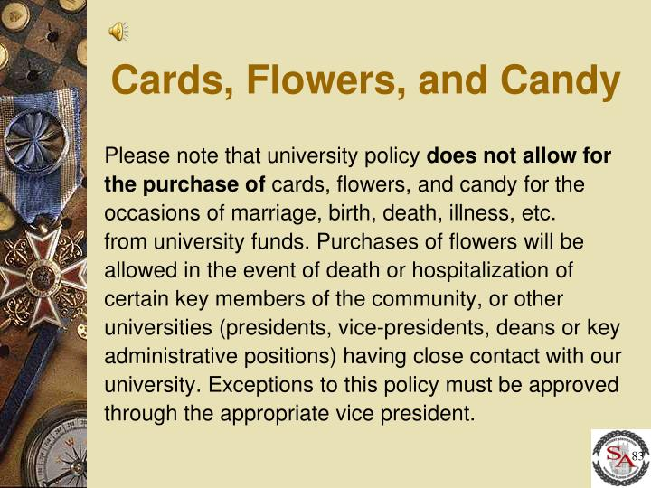 Cards, Flowers, and Candy