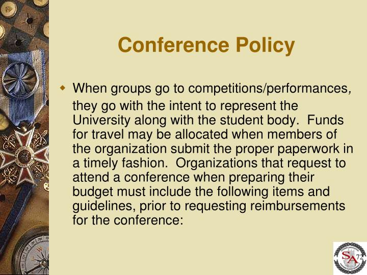 Conference Policy