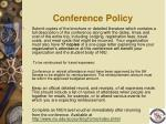 conference policy1