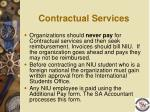 contractual services