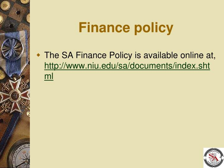Finance policy