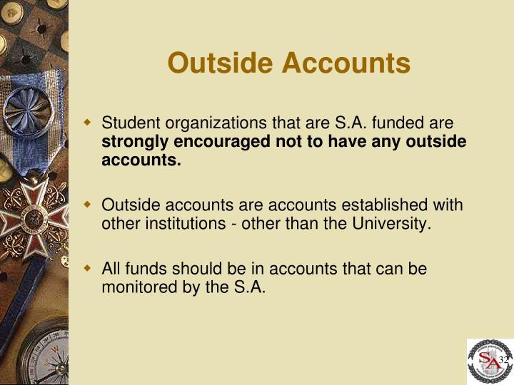 Outside Accounts