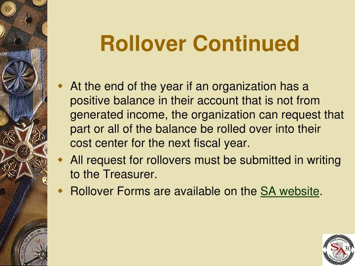 Rollover Continued