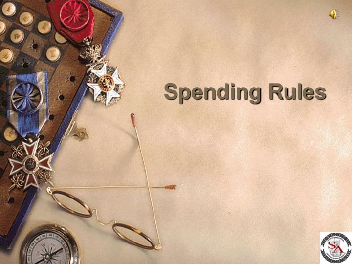 Spending Rules