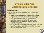 unpaid bills and unauthorized charges3