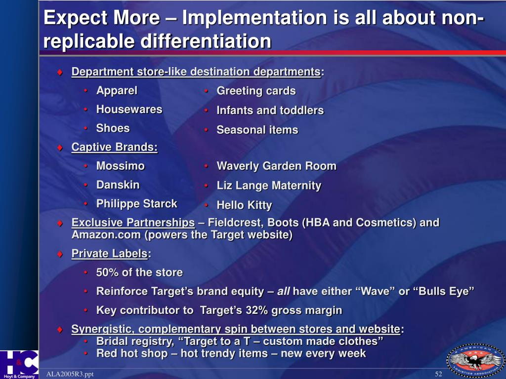 Expect More –Implementation is all about non-replicable differentiation