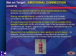 net on target emotional connection cont d