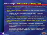 net on target emotional connection