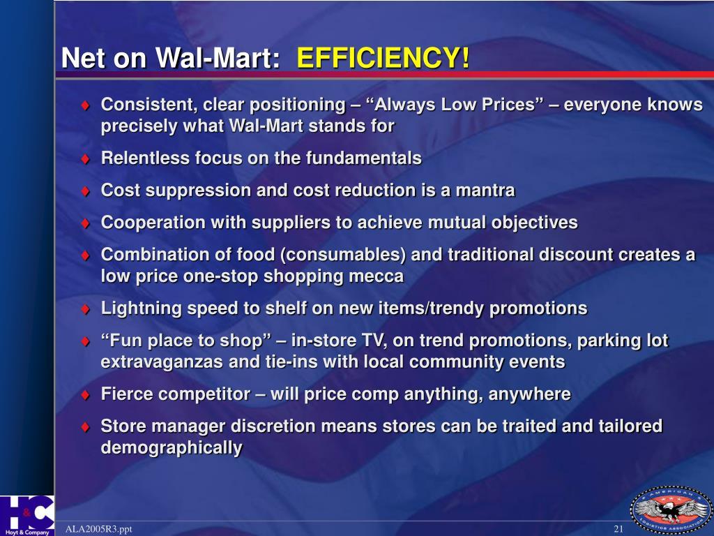 Net on Wal-Mart:
