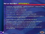 net on wal mart efficiency
