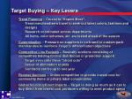 target buying key levers