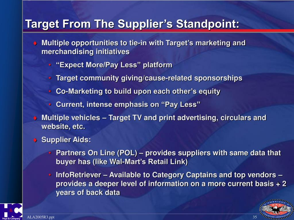 Target From The Supplier's Standpoint: