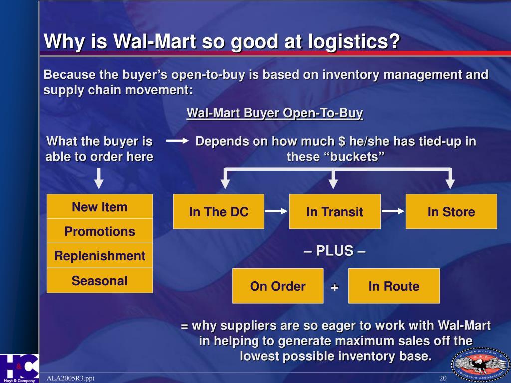 Why is Wal-Mart so good at logistics?