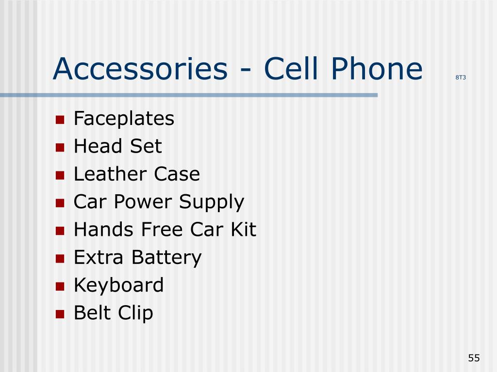 Accessories - Cell Phone