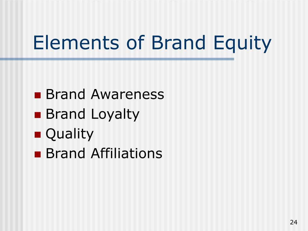 Elements of Brand Equity