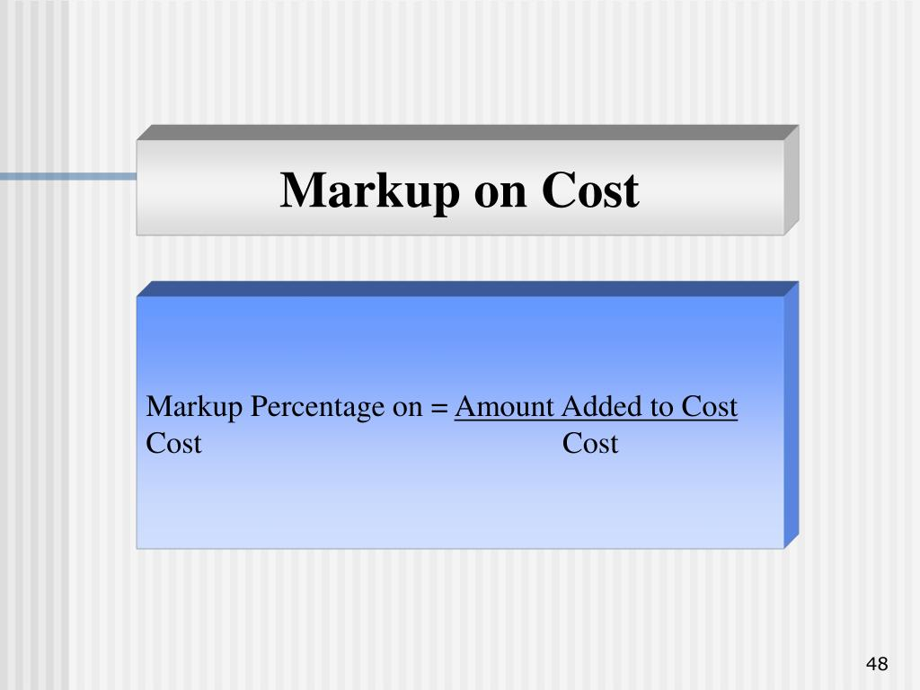 Markup on Cost