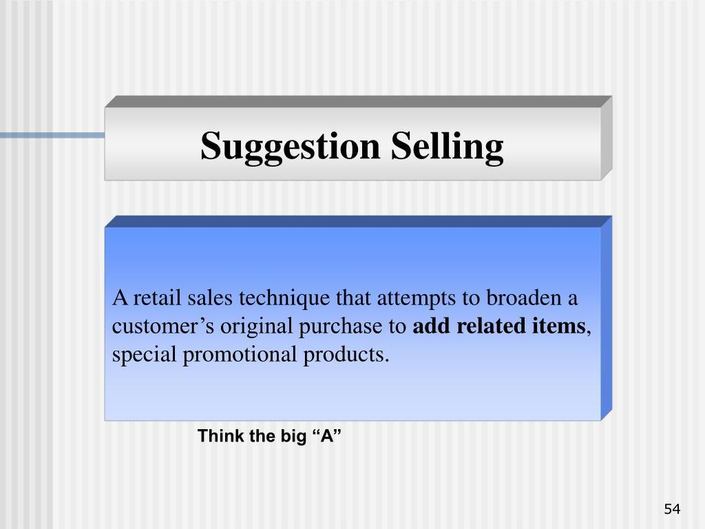 Suggestion Selling