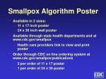 smallpox algorithm poster