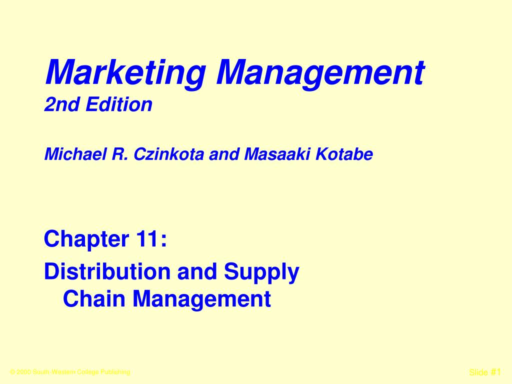 marketing management 2nd edition l.
