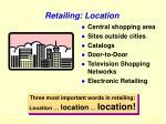 retailing location