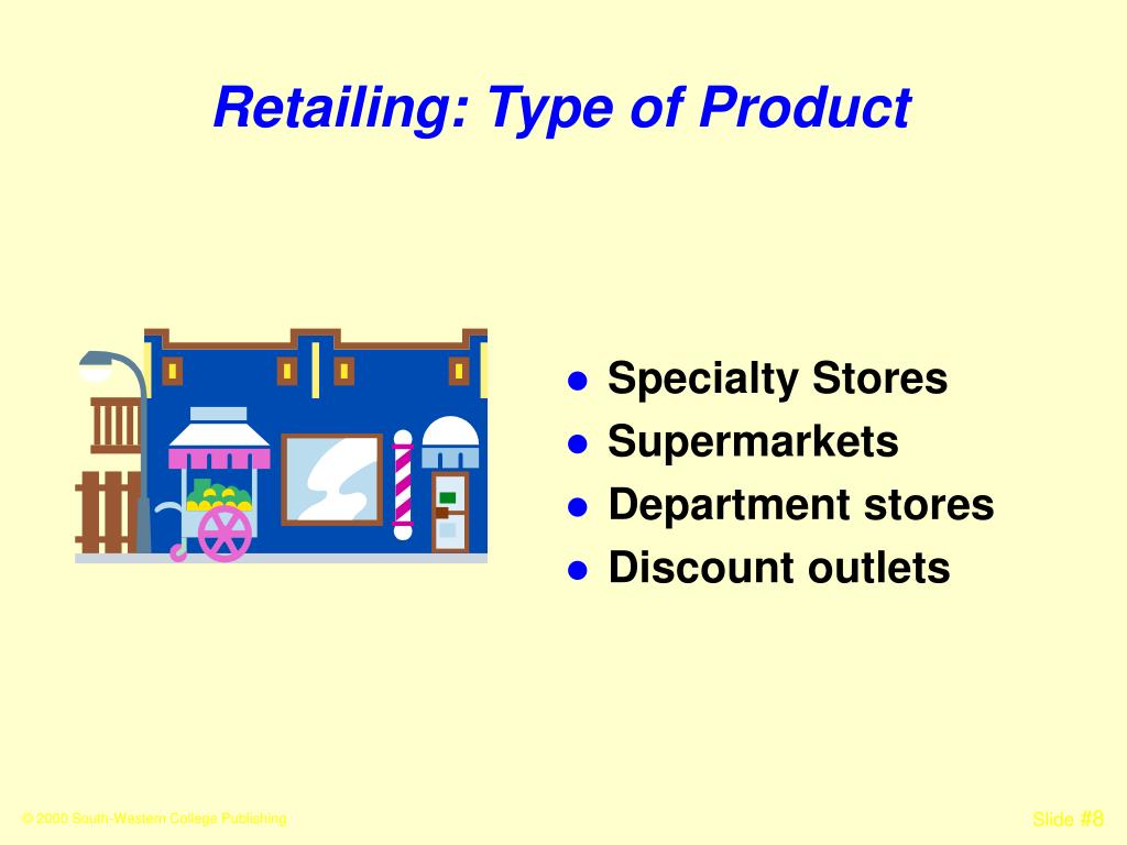 Retailing: Type of Product
