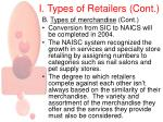 i types of retailers cont6