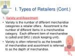 i types of retailers cont7
