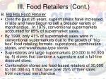 iii food retailers cont