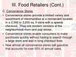 iii food retailers cont19