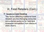 iii food retailers cont20