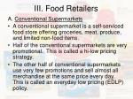 iii food retailers