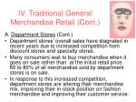 iv traditional general merchandise retail cont26