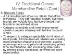 iv traditional general merchandise retail cont27