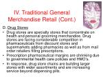 iv traditional general merchandise retail cont29