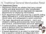 iv traditional general merchandise retail24