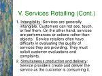 v services retailing cont39