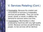 v services retailing cont40