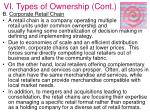 vi types of ownership cont43